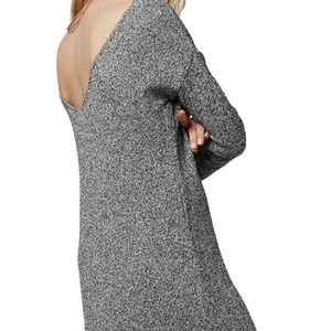 Topshop 8 long sleeve open back sweater dress
